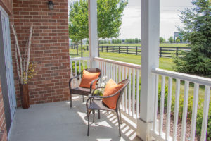 Apartment Porch at Canyon Club at Perry Crossing apartments in Plainfield IN