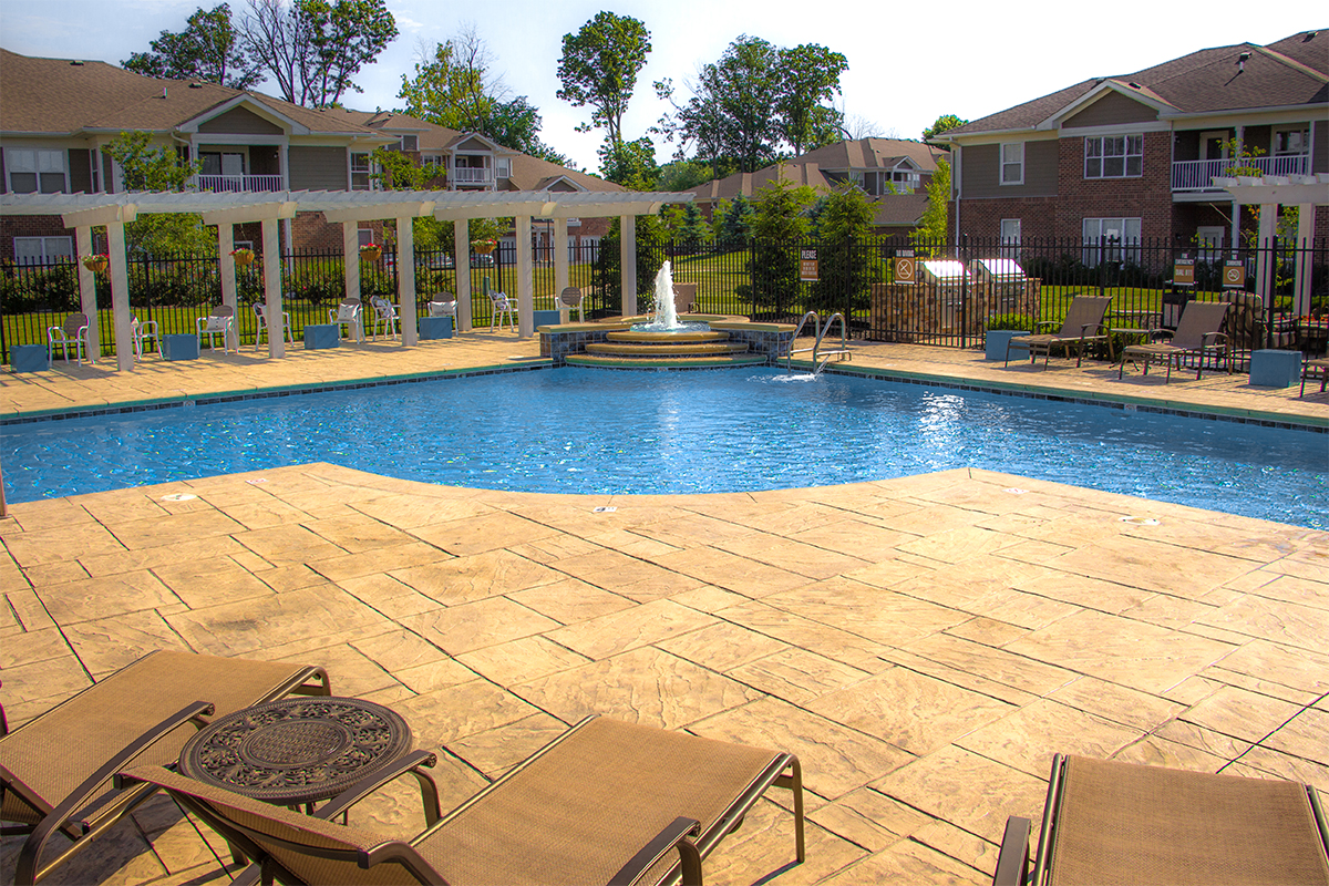 Swimming Pool atCanyon Club at Perry Crossing apartments in Plainfield IN