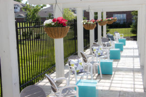 apartment patio at Canyon Club at Perry Crossing apartments in Plainfield IN