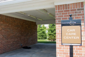 apartment car garage at Canyon Club at Perry Crossing apartments in Plainfield IN