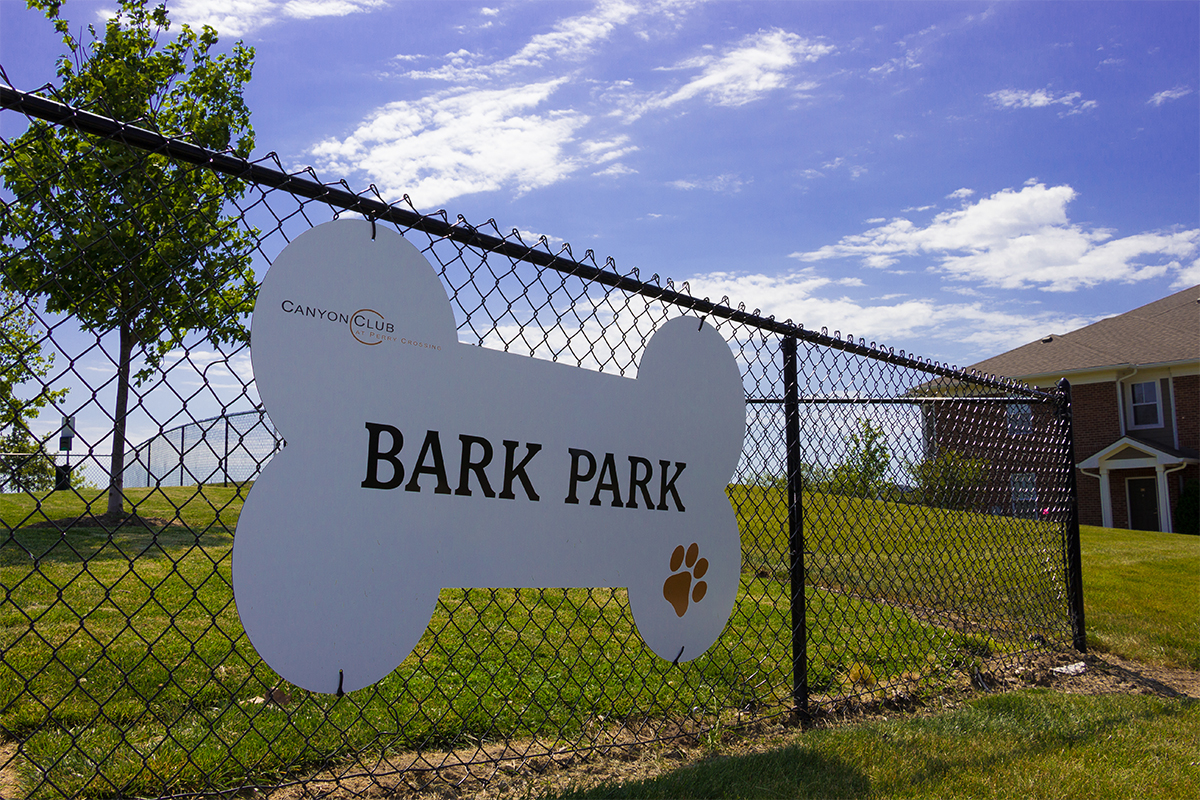 the dog park at Canyon Club at Perry Crossing apartments in plainfield IN