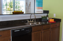 apartment kitchen at Canyon Club at Perry Crossing apartments in Plainfield IN